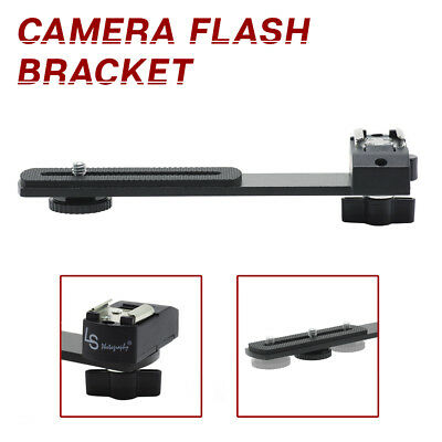 "6.3"" Straight Camera Flash Bracket 1/4""-20 Screw Hot Shoe Mount for Camera"