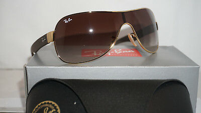 RAY BAN New Sunglasses Gold Brown with Brown Gradient RB3471 001/13 32 130