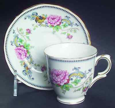 Crown Staffordshire CHELSEA MANOR Demitasse Cup & Saucer 5600462