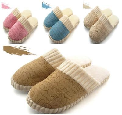 Women Men Winter Warm Velvet  Anti-Slip Slippers Home Sandals Indoor House Shoes
