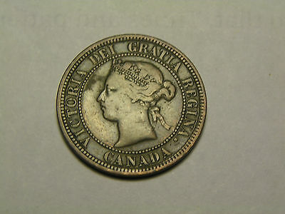 1881-H Canada Large Cendt   In V Ery Fine Condition