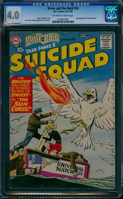 Brave & the Bold # 26  2nd appearance Suicide Squad !  CGC 4.0 scarce book !