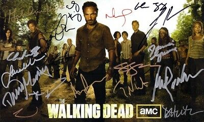 The Walking Dead Printed Autograph  Metal Sign Home Decor:man Cave:shed Gift 2