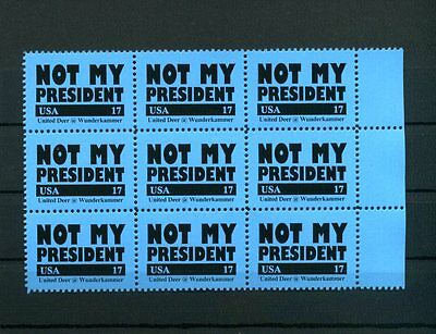 G3S NOT MY PRESIDENT USA Poster Stamp Artistamps Donald Trump