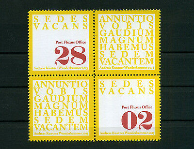 F9O ARTISTAMPS SEDES VACANS 2013 Sedisvakanz Post Fluxus Office Poster Stamp