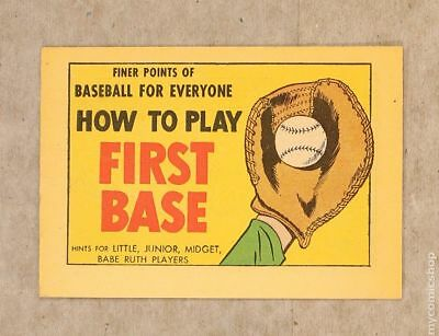 Finer Points of Baseball For Everyone: How to Play First Base #1962 VF 8.0