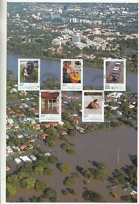 2011 Flood Relief Appeal sheetlet. Ex 2011 year album.CTO. High retail. Scarce