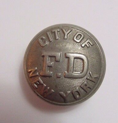 New York Fire Department Uniform Button-Vintage-Scovill Waterbury