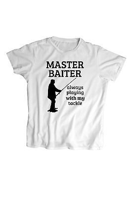 Master Baiter Always Playing With My Tackl Fishing Funny Microfiber Hand Towel