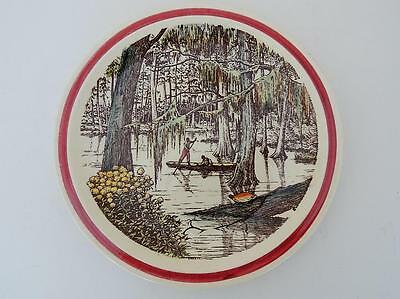 Vernon Kilns California Art Pottery Bits of the Old South Cypress Swamp Plate