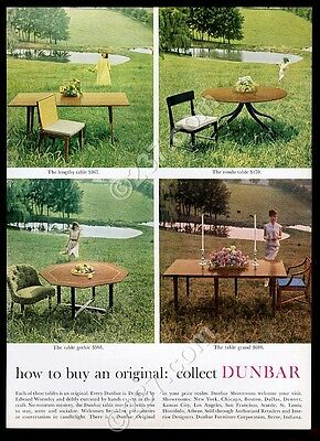 1963 Edward Wormley modern table chair 4 styles photo Dunbar Furniture print ad