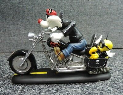 Looney Tunes Biker Collection Sylvester the Cat Tweety Bird Feud for the Road
