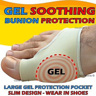BUNION Gel Foot Gout Arthritis Corn - Big TOE Pain Relief Support Pad Protector