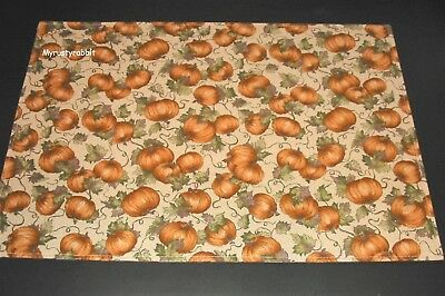 Longaberger Placemats 2 Pumpkin Patch Fabric  - FALL Harvest - Mult Avail