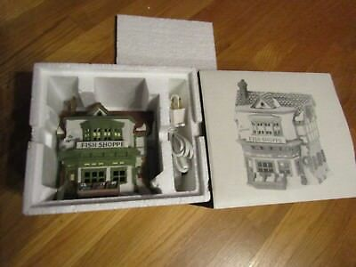 Dept 56 Heritage Collection Dickens Village The Mermaid Fish Shoppe 5926-9 1988
