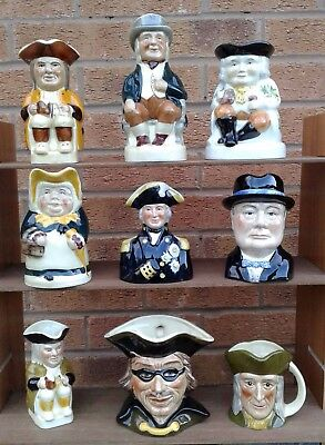 Tony Wood - Selection Of Character / Toby Jugs.