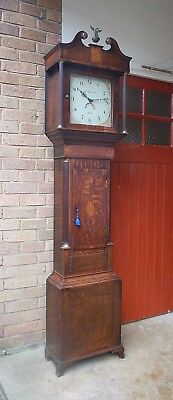 George III Antique Longcase Grandfather Clock - William Giscard Ely (Cambs)