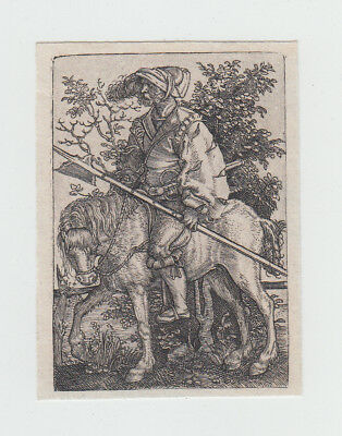 Barthel Beham (Norimberga, 1502-1540) Alabardiere a cavallo