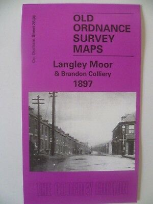 Old Ordnance Survey Maps Langley Moor Brandon Colliery Co Durham 1897 Godfrey Ed