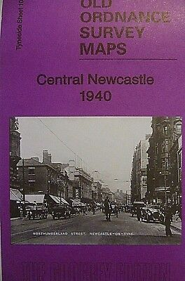 OLD Ordnance Survey Map Central Newcastle Tyneside 1940 Sheet 11 New