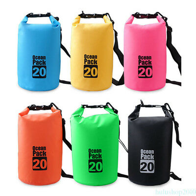 20L Outdoor Waterproof Canoe Swimming Camping Hiking Backpack Dry Bag Sack Pouch
