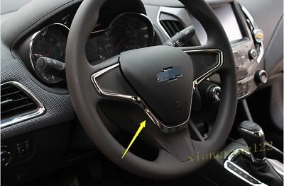 For Chevrolet Cruze 2017-2018 1PCS Interior steering wheel Molding Cover Trim