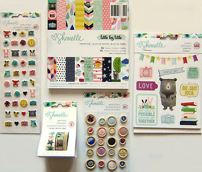 Shimelle  [LITTLE BY LITTLE]  6 X 6 Paper Pad & Embellishments  Save 45%