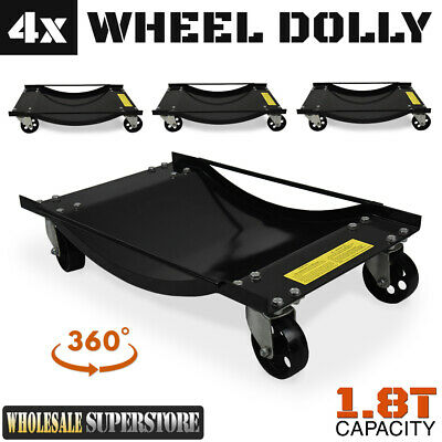 4x Wheel Dolly - Heavy Duty 450 kg / 1000 lb Vehicle Positioning Jack Platform