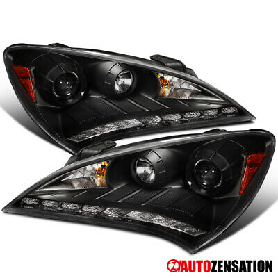 For 2010 2012 Hyundai Genesis Coupe Black Projector