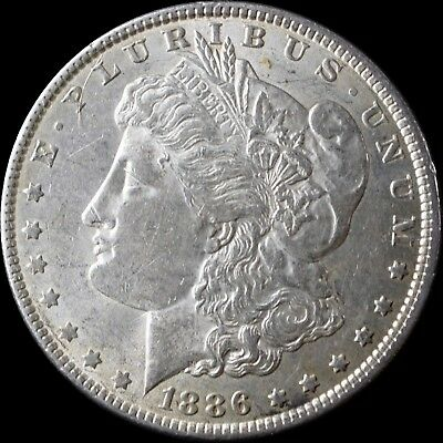 1886 P ~** AU/UNCIRCULATED**~ Silver Morgan Dollar Rare US Old Coin!