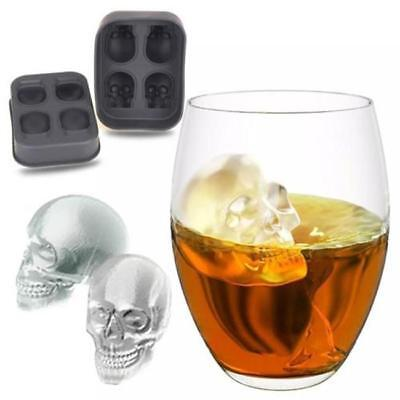 New Silicone Skull Ice Mold Cocktails y Cube Tray Party Cocktail Mould 3D