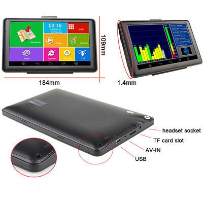 """7"""" Capacitive Touch Screen Car Off-Road Android GPS Navigator Bluetooth Wifi FM"""