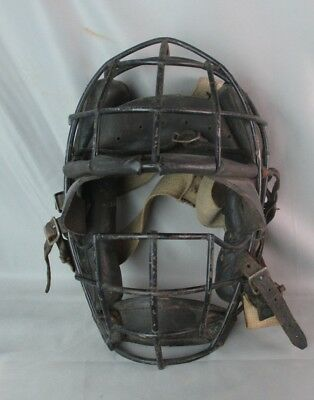 Antique Spider Catchers Baseball Mask Leather Sun Visor Unusual Style Ca 1920