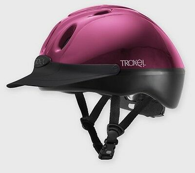 New Troxel Spirit, Vented Riding hat,Gloss Fuchsia (Hot Pink) Large  (59-62cm)