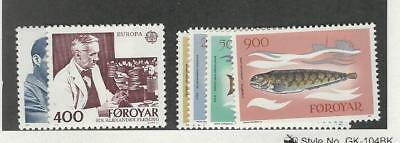 Faroe Islands, Postage Stamp, #95-100 Mint NH, 1983 Fish