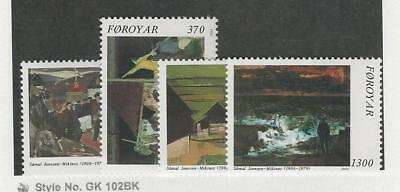 Faroe Islands, Postage Stamp, #228-231Mint NH, 1991 Art, Samal Joensen