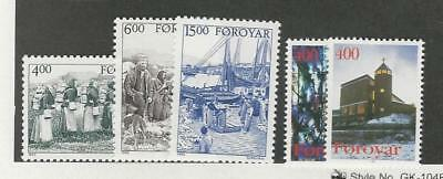 Faroe Islands, Postage Stamp, #290-294 Mint NH, 1995