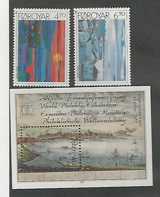 Faroe Islands, Postage Stamp, 166-168 Mint NH, 1987 (p)
