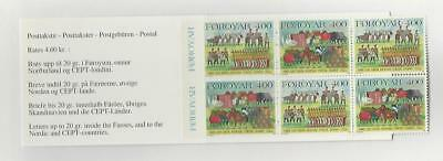 Faroe Islands, Postage Stamp, #275a Booklet Mint NH, 1994 (p)