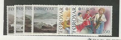 Faroe Islands, Postage Stamp, #121-126 Mint NH, 1985 Music