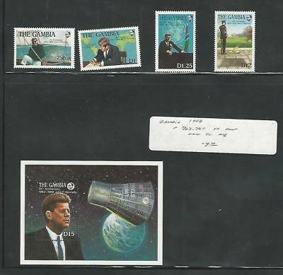 Gambia, Postage Stamp, #763-767 Mint NH, 1988 Kennedy, Space (P)