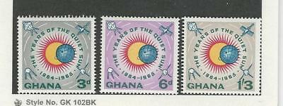 Ghana, Postage Stamp, #186-188 Mint NH, 1964 Space, Sun