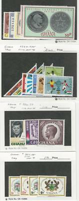 Ghana, Postage Stamp, #208-15, 227-39 Mint NH, 352-55 LH, 1965-69