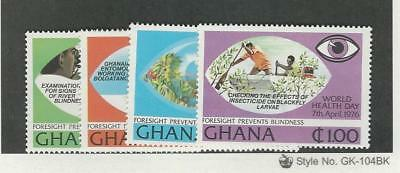 Ghana, Postage Stamp, #592-595 Mint NH, 1976 World Health