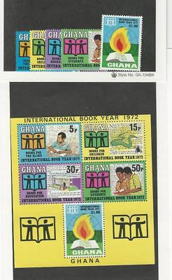 Ghana, Postage Stamp, #445-449a Set & Sheet Mint NH, 1972