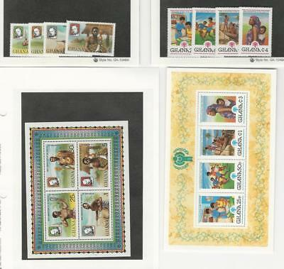 Ghana, Postage Stamp, #704-708, 709-713 Set & Sheet Mint NH, 1980