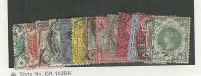 Great Britain, Postage Stamp, #111-122, 125 Used, 1887-1900