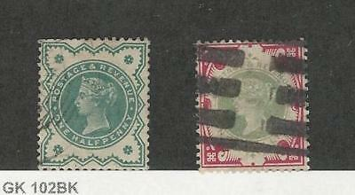 Great Britain, Postage Stamp, #125-126 Used, 1900