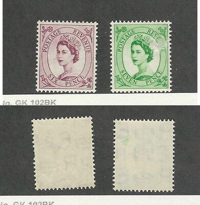 Great Britain, Postage Stamp, #325-326 Fault Mint Hinged WMK308, 1955