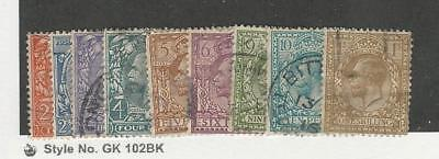 Great Britain, Postage Stamp, #190-200 Used, 1924